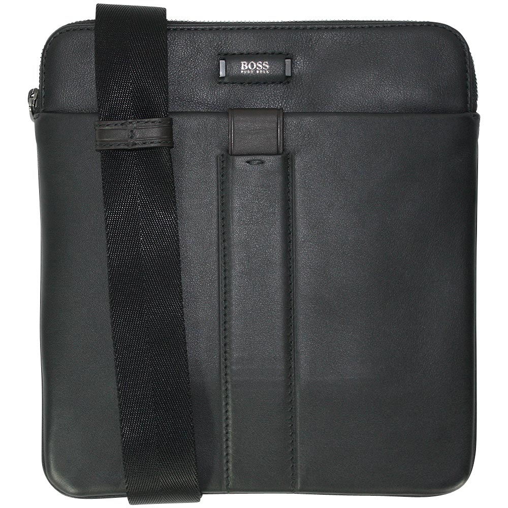 hugo boss business crossover tasche jackson szip black ebay. Black Bedroom Furniture Sets. Home Design Ideas